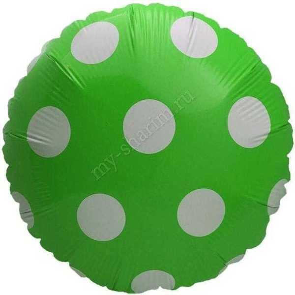 Шар Круг, Большие точки, 46см