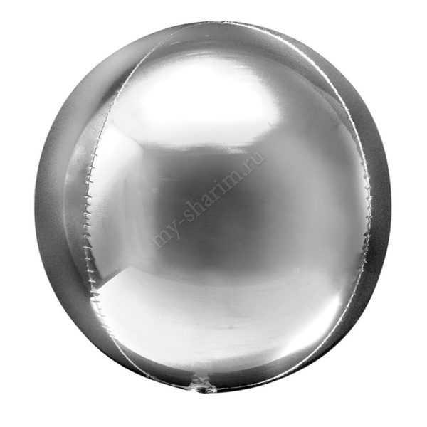 Сфера 3D, Серебро, 51см