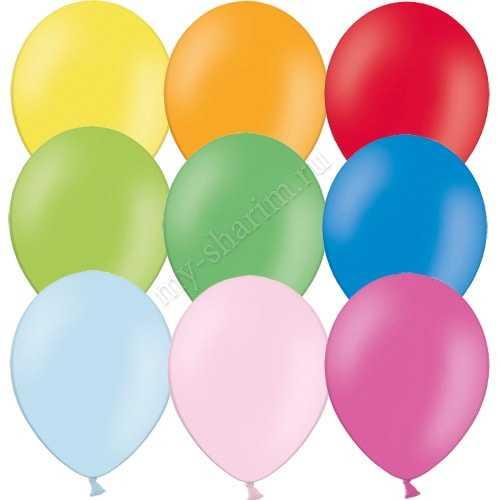 Гелиевый шарик без обработки, пастель 25см