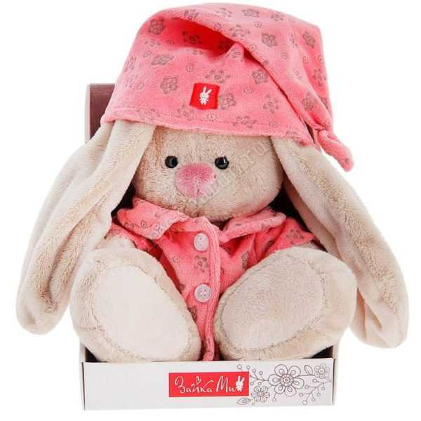 Мягкая игрушка «Зайка Ми» в розовой пижаме