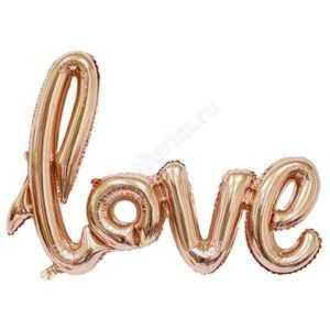 """Надпись прописью """"Love"""" , Розовое Золото, 104см"""