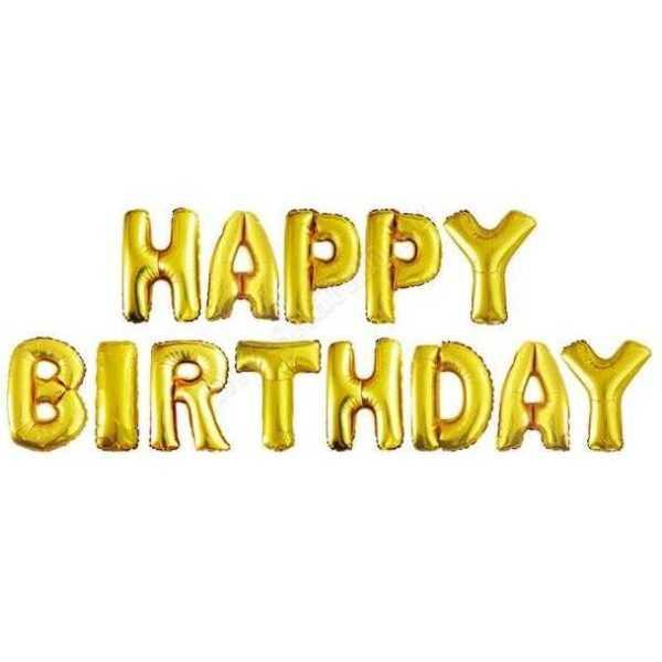 """Надпись """"Happy Birthday"""", Золото"""