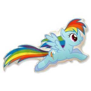 Милая пони Радуга Дэш, 109см