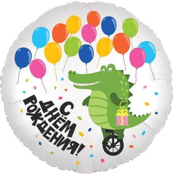 Круг, С Днем Рождения! (крокодил), 46см