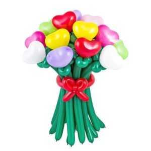 Цветы с сердечками