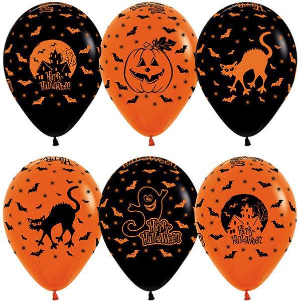 Шар Хэллоуин, оранжевый и черный