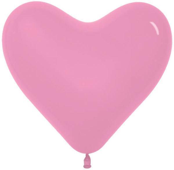Сердце Розовый, пастель, 41см