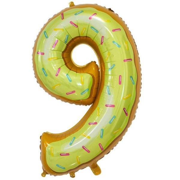 Цифра, 9, Пончик, 86см, 1шт.