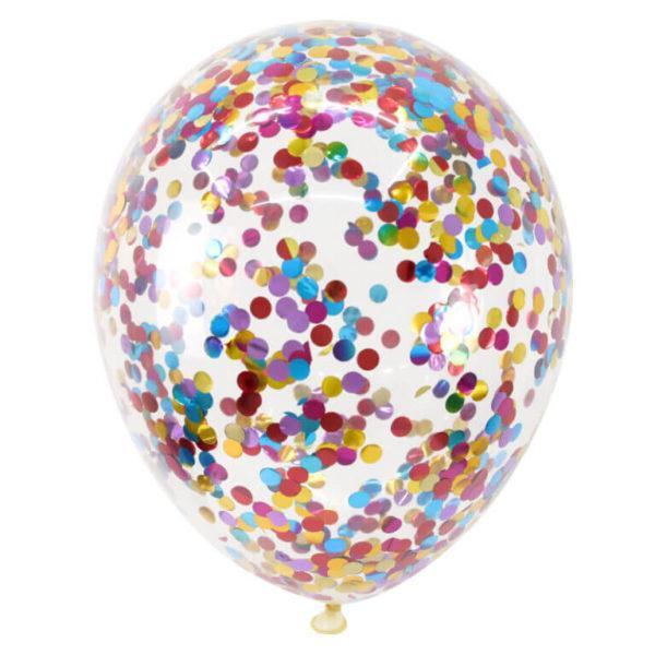 Шар с разноцветным конфетти